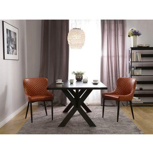Krzesło do jadalni Old Style brąz skóra ekologiczna SOLANO, kolor brązowy