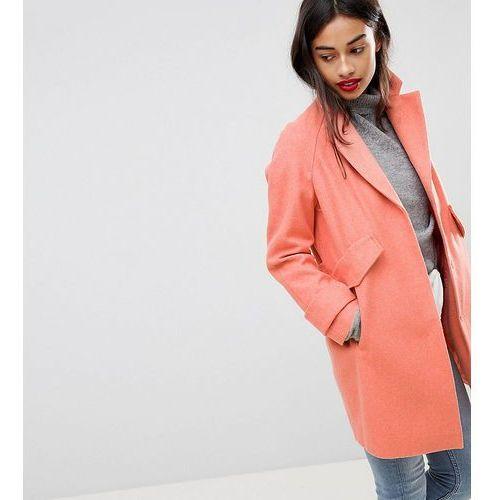 pocket detail coat - pink, Asos petite