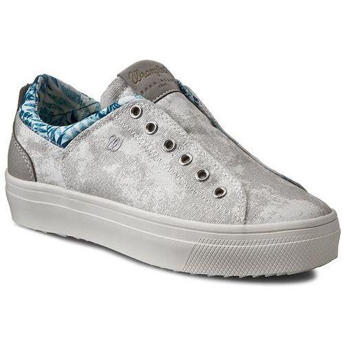 Sneakersy WRANGLER - Sheena Low Laminated WL161555 Silver 4, w 3 rozmiarach