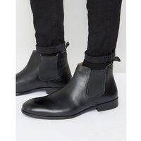 chelsea boots in black leather - black, Red tape