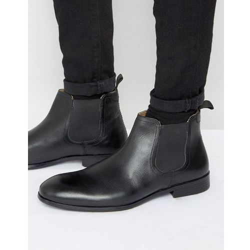 chelsea boots in black leather - black marki Red tape