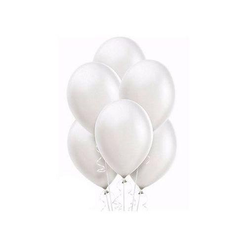 Balony lateksowe metaliczne duże - 14 cali - perłowe - 100 szt.