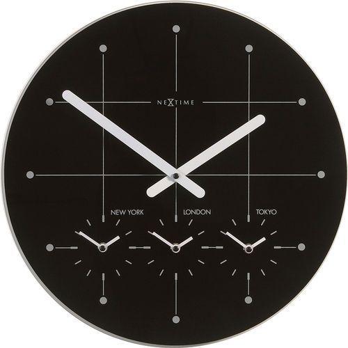 Zegar ścienny Big City czarny, 214zw