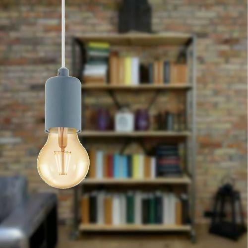 Lampa wisząca yorth-p 49021 zwis 1x60w e27 pastelowy ciemny niebieski marki Eglo