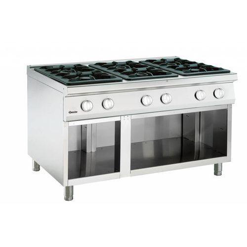 Bartscher 6-palnikowa kuchnia gazowa z otwartą podstawą