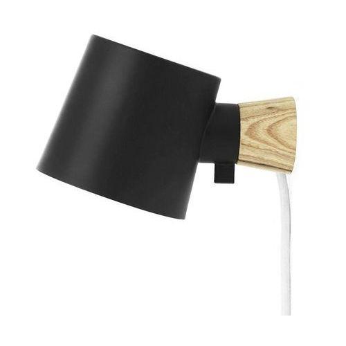 Normann copenhagen Rise-kinkiet ścienny stal/drewno dł.17cm (5712396012615)