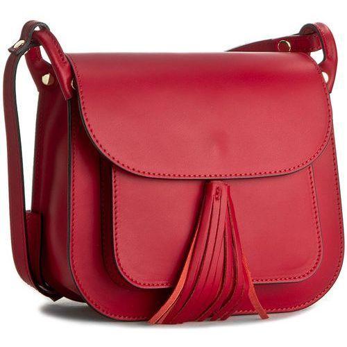 Torebka CREOLE - K10197 Czarwony/Czarny, kolor czerwony