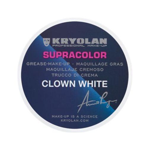 Kryolan SUPRACOLOR CLOWN WHITE Biała farba o konsystencji kremowej - 30 G. (1081)