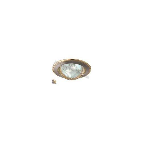 Greenlux Oczko halogenowe axl 5515 1xmr16/50w satynowy nikiel/złoty- gxpl043 (8592660101934)