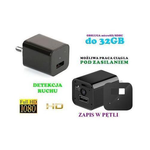 Szpiegowski Zasilacz/Ładowarka USB, Nagrywająca Obraz FULL HD + Dźwięk (m.in. na ruch) + Praca 24H!!, 59073416098