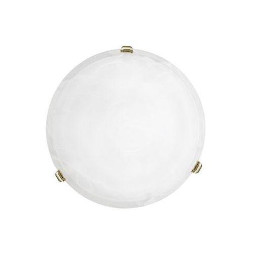 Eglo 7185 - Plafon SALOME 1xE27/60W/230V alabastrowe szkło, kolor mosiądz,