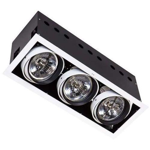 Wpust lampa sufitowa arlo wh dl-723aplusdl-723hd-ar111/wl  metalowa oprawa podtynkowa prostokąt biały marki Italux