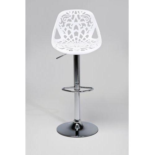 :: hoker ornament white - kare design:: bar stool ornament white ||srebrny marki Kare design
