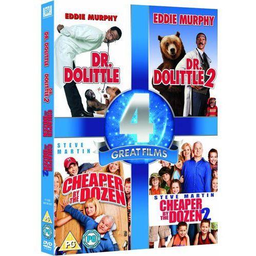 4 Great Films - Dr. Dolittle 1 and 2 / Cheaper by the Dozen 1 and 2 z kategorii Pozostałe filmy