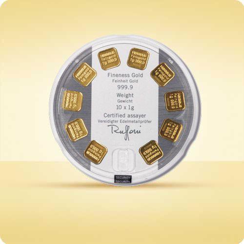 10 x 1 g sztabka złota MultiDisc - wysyłka 24 h! - 24h