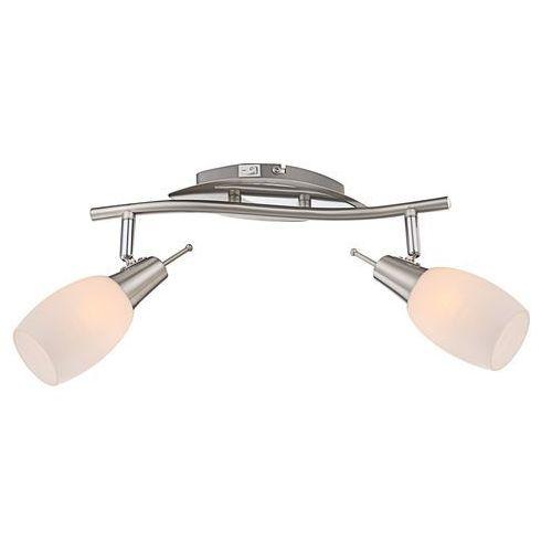 Kinkiet lampa oprawa ścienna Globo Gillian 2x40W E14 srebrny/przeźroczysty 54983-2 (9007371234530)