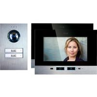 M-e modern-electronics Domofon , kompletny zestaw, interkom drzwiowy, dom dwurodzinny (2050002398047)