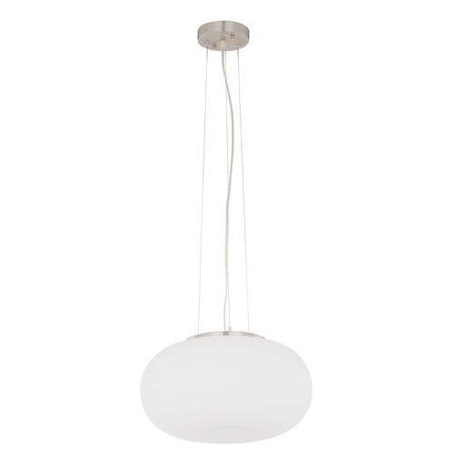 Italux Lampa wisząca ufo md4107-2f szklana oprawa owalna zwis biały