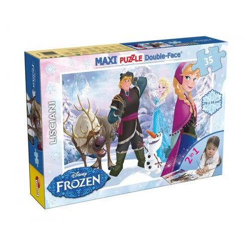 Frozen Puzzle dwustronne Maxi 35 (46867), 1_524908