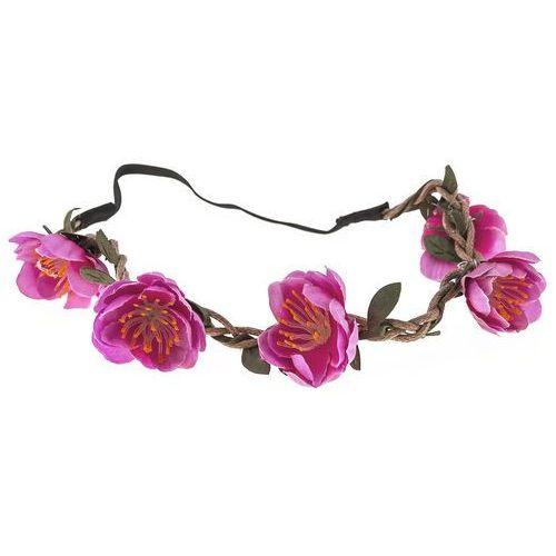 Wianek opaska kwiaty amarant - AMARANT