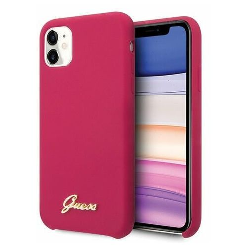 Guess Etui guhcn61lslmgre iphone 11 czerwony/burgundy hard case silicone vintage gold logoguess / gue000599 gue000599 (3700740471784)
