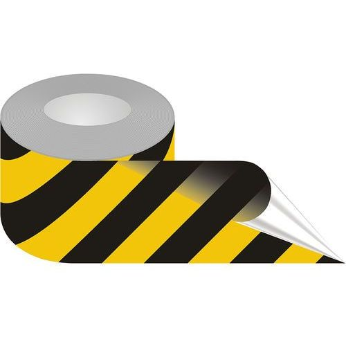 Taśma samoprzylepna żółto-czarna podłogowa marki Top design