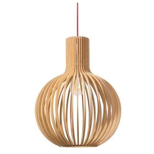 Beliani Lampa wisząca jasne drewno lemina