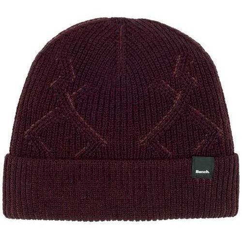 czapka zimowa BENCH - Fishermans Interest Rib Beanie Dark Burgundy (BU017)