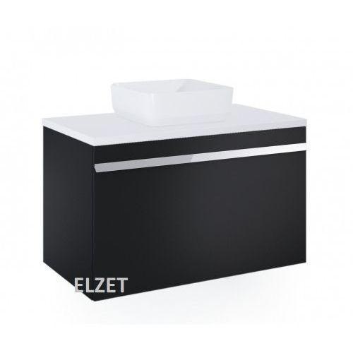 Elita szafka moody black matt pod umywalkę nablatową + blat 90 white 167687+167035