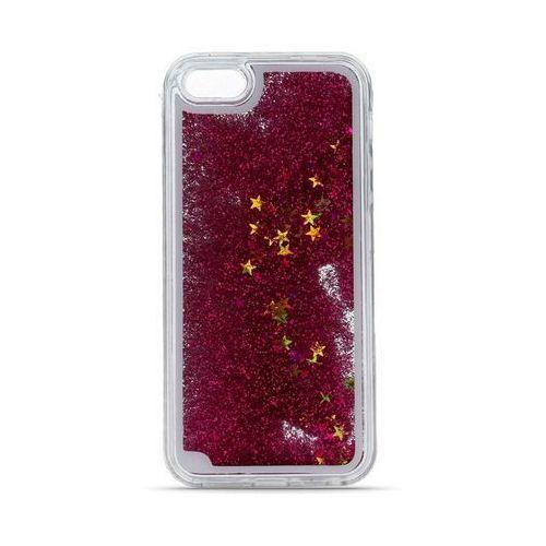 Silikonowa nakładka liquid glitter do iphone 5/5s/5se ciemnoróżowa marki Telforceone