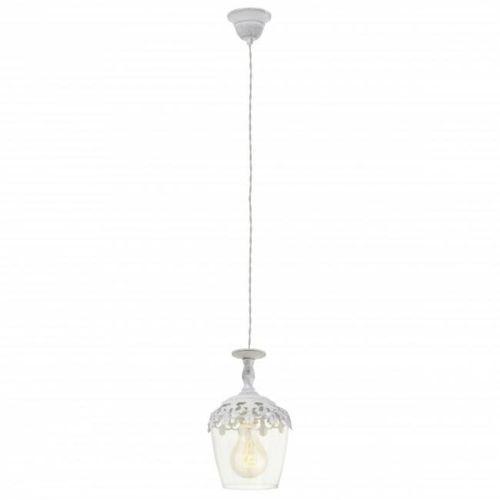 Eglo vintage lampa wisząca biały, 1-punktowy - vintage - obszar wewnętrzny - vintage - czas dostawy: od 10-14 dni roboczych