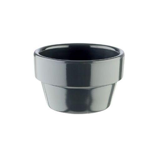 Mini naczynie flower pot z melaminy czarne 40 ml marki Aps