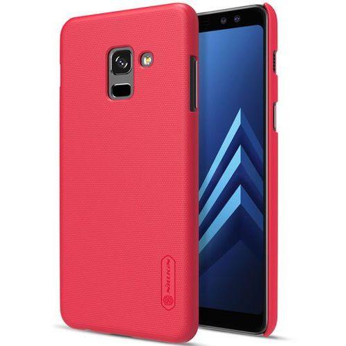 Etui Nillkin Super Frosted Shield do SAMSUNG GALAXY A8 2018 A530 czerwony - czerwony (6902048152861)