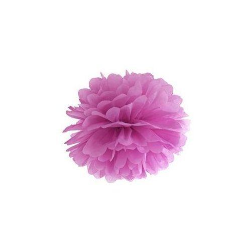 Party deco Dekoracja wisząca pompon kwiat - śliwkowa - 25 cm - 1 szt.