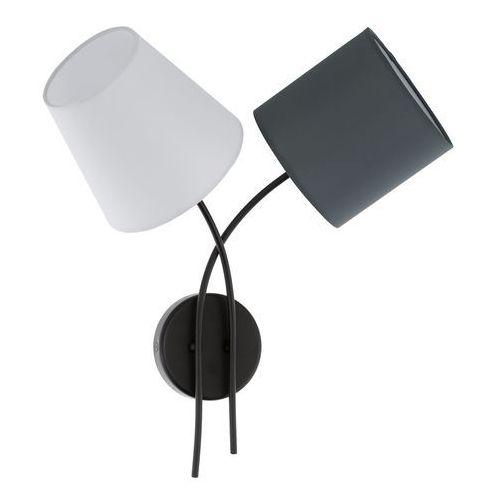Lampa ścienna oprawa Eglo Almeida 2x40W E14 czarna/biała 95193 (9002759951931)