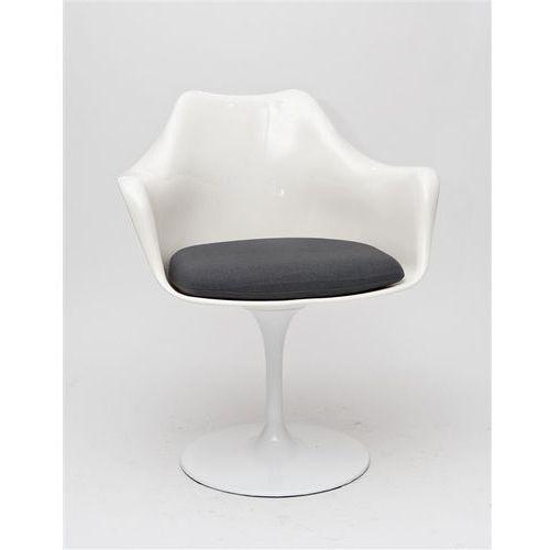 D2.design Krzesło tular inspirowane tulip armchair - szary ||biały (5902385706940)