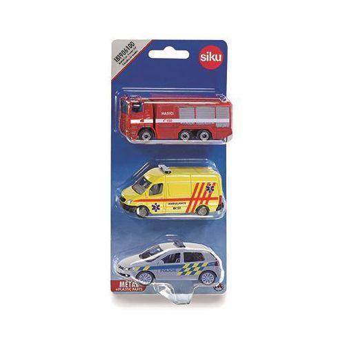 Zestaw pojazdów ratunkowych marki Siku