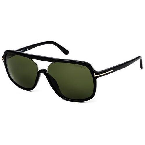 Okulary Słoneczne Tom Ford FT0442 ROBERT 01N, kolor żółty