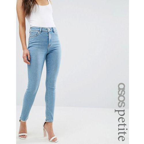 ASOS PETITE Ridley Skinny Jeans in Anais Light Wash - Blue
