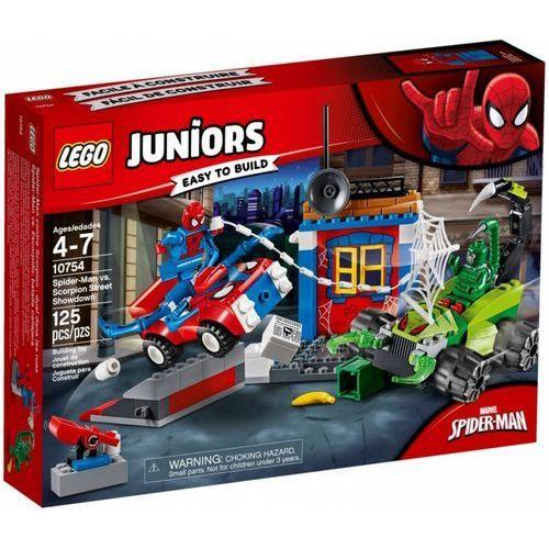 Klocki juniors spider-man kontra skorpion marki Lego