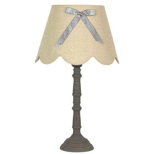 Candellux Stojąca lampa stołowa vibu 41-28365 abażurowa lampka z kokardą beżowy