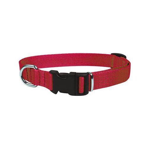 obroża taśmowa regulowana ozdobna kolor: czerwony 25mm / 60cm marki Chaba