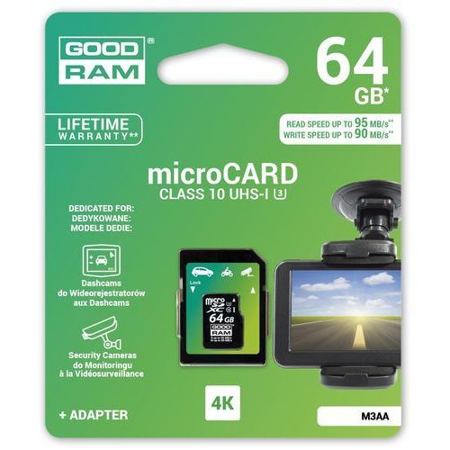 Goodram Karta pamięci microsdhc 64gb mlc u3 uhs i + adapter 95/90 mb/s
