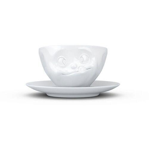 """- filiżanka do kawy - """"smaczne"""" - biała - 0,2 l marki 58products"""