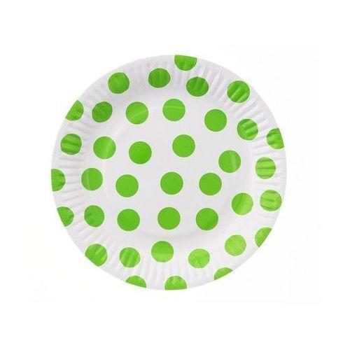Talerzyki papierowe Groszki pistacjowe 18 cm 6 sztuk