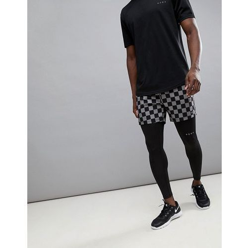 shorts with checkerboard print in mid length - multi, Asos 4505