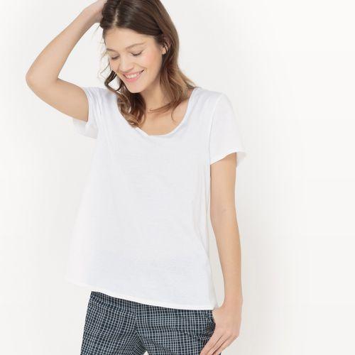 La redoute collections Koszulka z dekoltem w serek, bawełna/modal