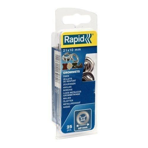 Rapid Przelotki śr. 10 x 21 mm z kowadełkiem 25 szt. (4051661013720)