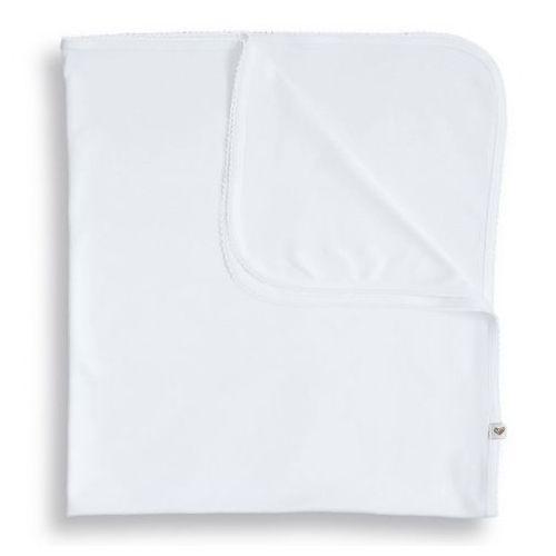 Organiczny Kocyk / Otulaczek, Elegance / Biały, 85x85 cm, NANAF ORGANIC