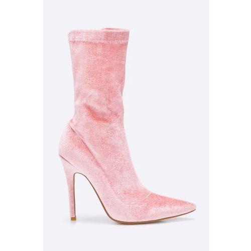 Public Desire - Botki Pink Velvet